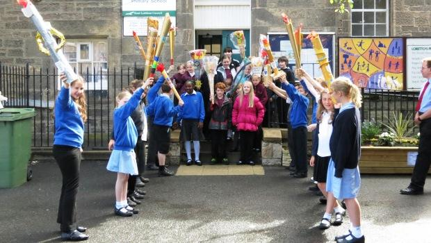 Torch relay at Loretto