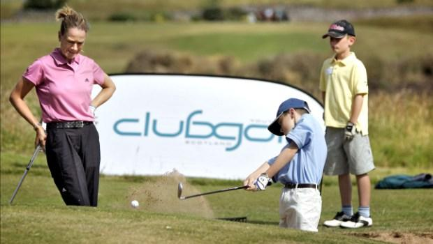 Catriona Matthew visits clubgolf in North Berwick