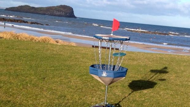 Disc Golf on the Beach in North Berwick