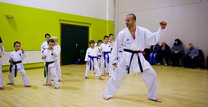 Karate at Windygoul Primary School