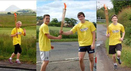 North Berwick Torch relay photos