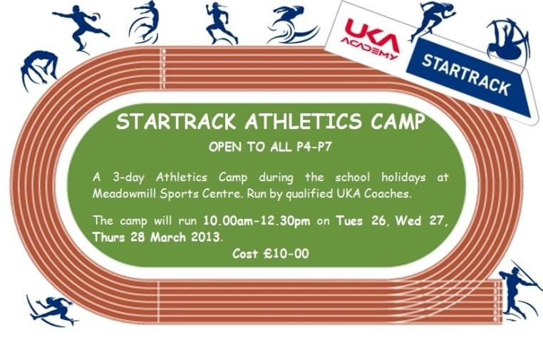 Active East Lothian | Easter Athletics StarTrack Camp